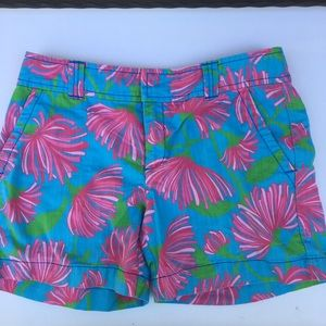 Lilly Pulitzer Shorts Resort Fit Turquoise Kissue